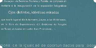 La opereta del Gobierno de Aragón con la igualdad de la mujer